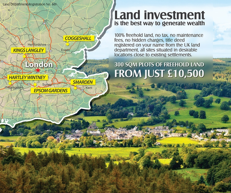 Invest in UK land today